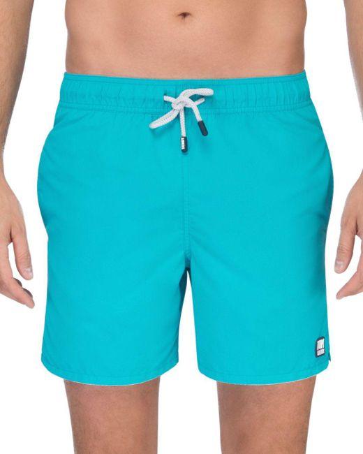 Tom & Teddy - Blue Solid Swim Trunks for Men - Lyst
