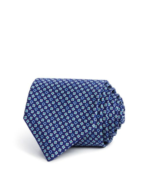 Ferragamo | Blue Floral Gancini Classic Tie for Men | Lyst
