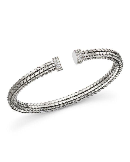 Roberto Coin - 18k White Gold Diamond Bracelet - Lyst