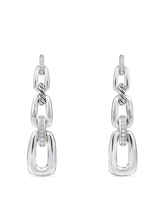 David Yurman - Metallic Wellesley Linked Chain Drop Earrings With Diamonds - Lyst
