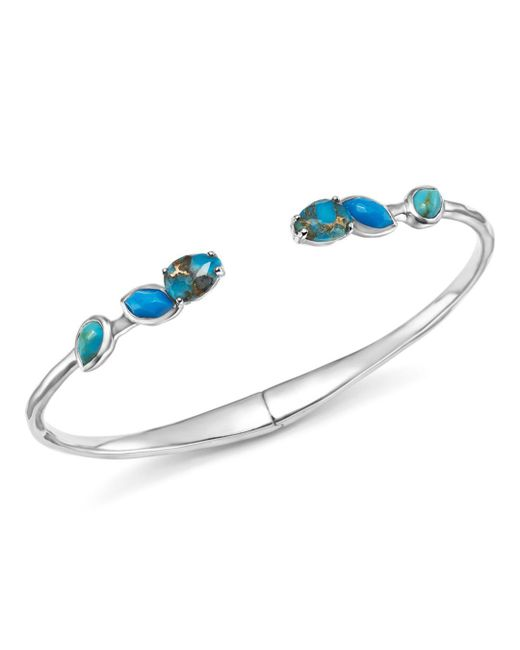 Ippolita - Multicolor Sterling Silver Rock Candy® Mixed Turquoise And Amazonite Doublet Hinged Bangle - Lyst