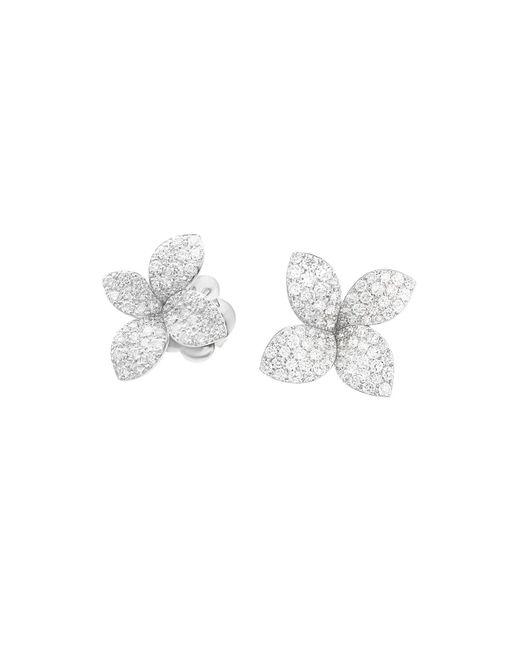 Pasquale Bruni - 18k White Gold Secret Garden Pavé Diamond Earrings - Lyst