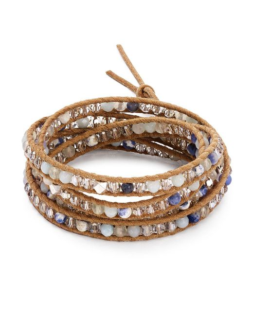 Chan Luu   Multicolor Mixed Stone Wrap Bracelet   Lyst