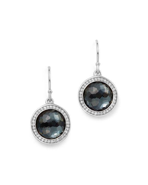 Ippolita - Metallic Sterling Silver Lollipop Diamond & Hematite Doublet Drop Earrings - Lyst