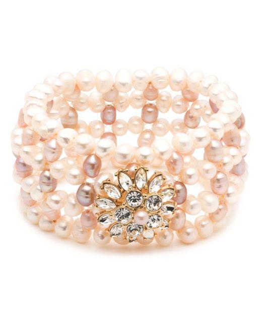 Carolee - Metallic Cultured Freshwater Pearl Stretch Bracelet - Lyst