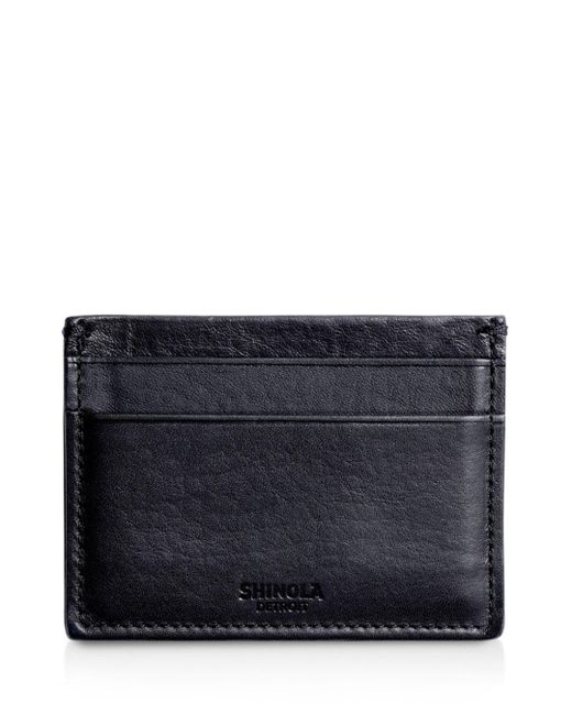 Shinola Blue Leather Card Case