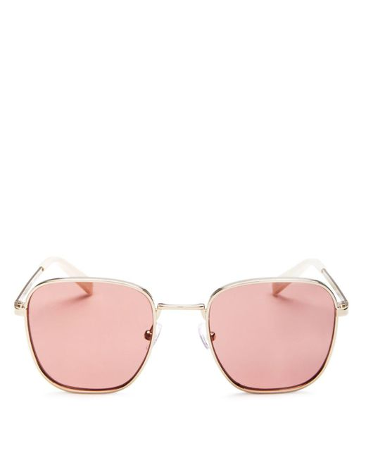 Kendall + Kylie - Pink Kendall And Kylie Women's Dana Square Sunglasses, 50mm - Lyst