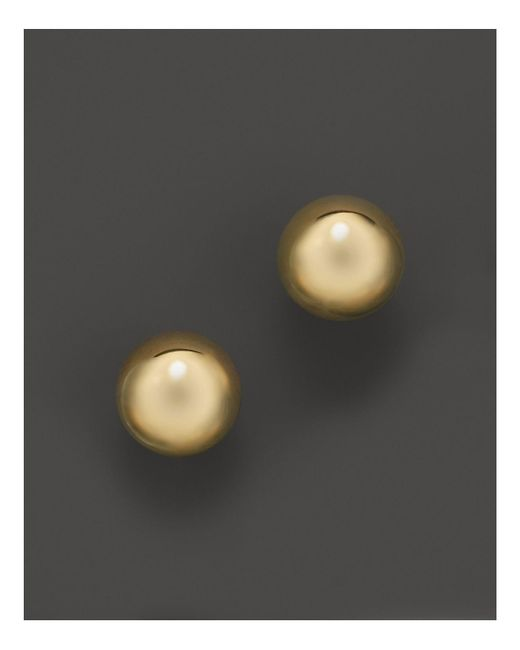 Roberto Coin | 18k Yellow Gold Small Pallini Post Earrings | Lyst