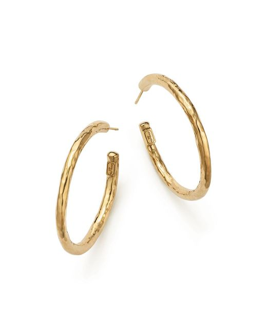 Ippolita - Metallic 18k Yellow Gold Glamazon #3 Hoop Earrings - Lyst