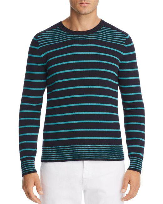 Vilebrequin - Blue Striped Crewneck Sweater for Men - Lyst