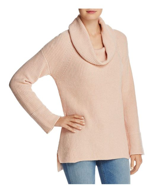 Calvin Klein   Multicolor Cowl Neck Chunky-knit Sweater   Lyst