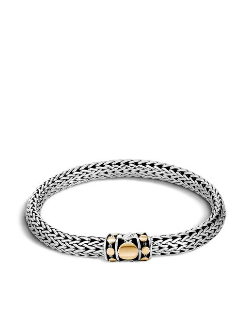 John Hardy | Metallic Sterling Silver And 18k Bonded Gold Dot Medium Chain Bracelet | Lyst