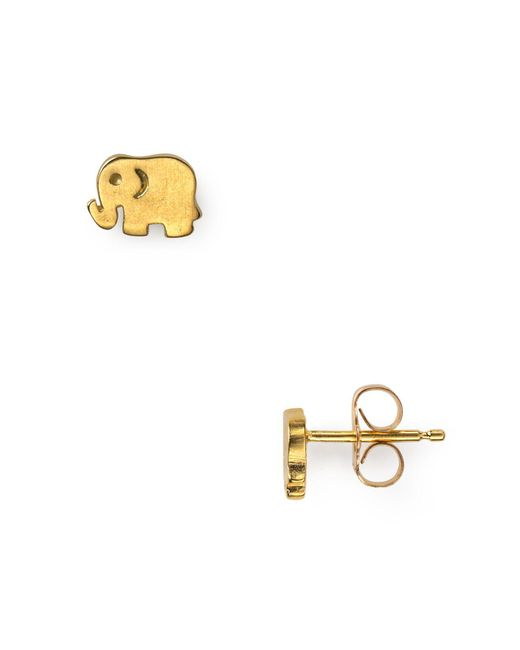 Dogeared | Metallic Little Elephant Stud Earrings | Lyst