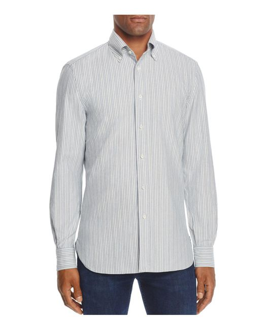 Eidos university stripe regular fit button down shirt for for College button down shirts