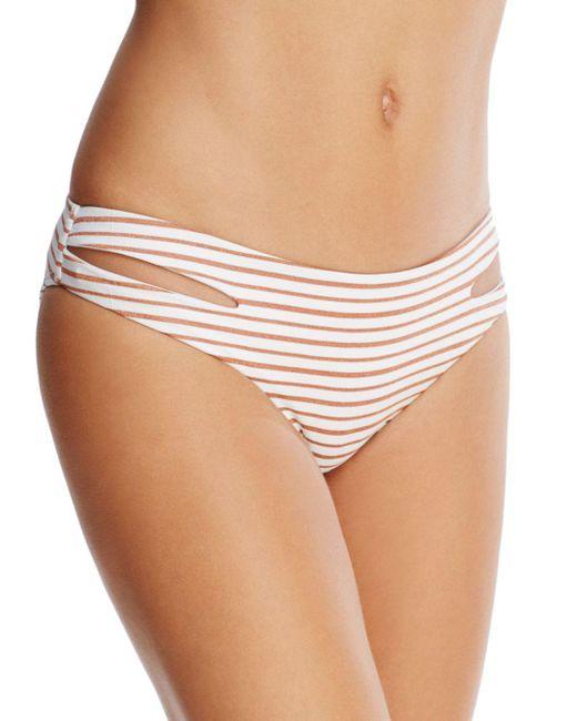 L*Space - White Estella Moderate Coverage Bikini Bottom - Lyst