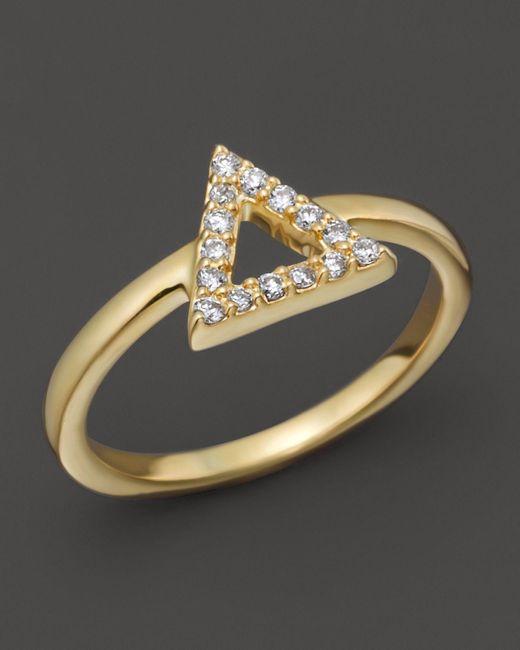 Khai Khai   Diamond Alt-j Knuckle Ring In 18k Yellow Gold, .08 Ct. T.w.   Lyst