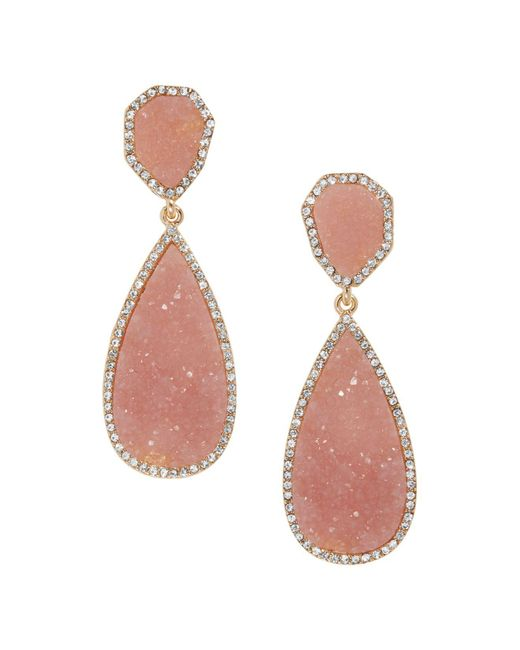 BaubleBar - Pink Moonlight Druzy Earrings - Lyst