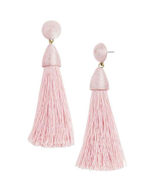 BaubleBar | Pink Rosabella Tassel Earrings | Lyst