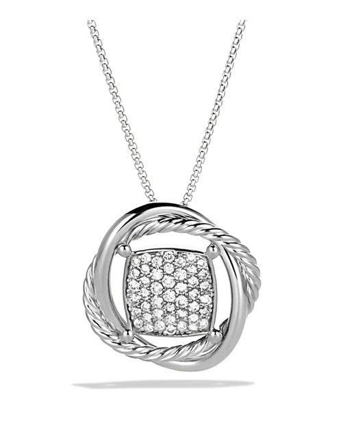David Yurman - Metallic Infinity Pendant With Diamonds In Gold On Chain - Lyst