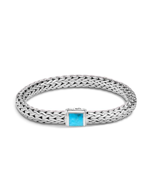 John Hardy - Multicolor Sterling Silver Classic Chain Medium Bracelet With Turquoise - Lyst
