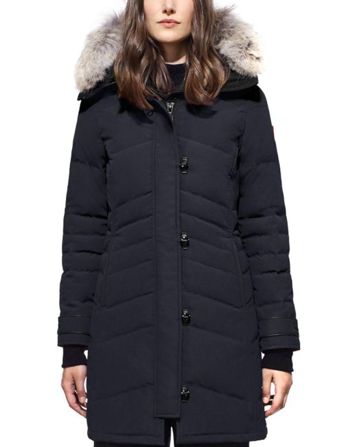 Canada Goose Blue Lorette Quilted Down Jacket