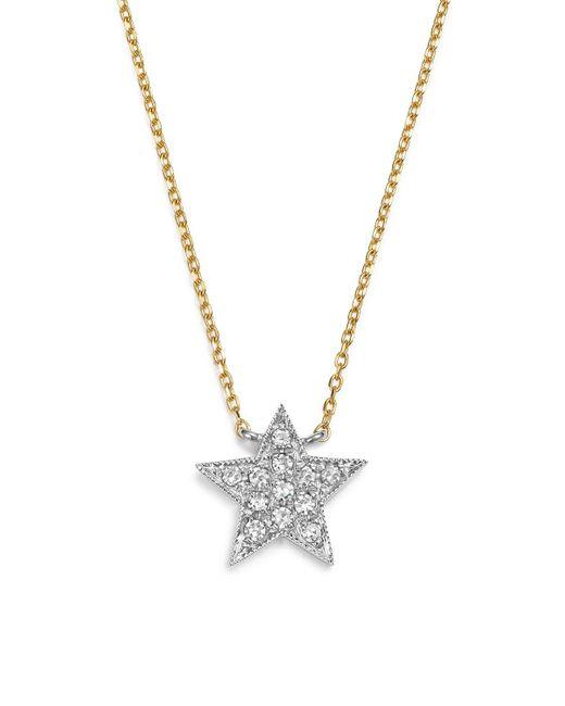 "Dana Rebecca | Diamond Julianne Himiko Star Necklace In 14k White Gold With 14k Yellow Gold Chain, 16"" | Lyst"