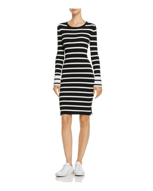 Theory - Black Prosecco Striped Sweater Dress - Lyst