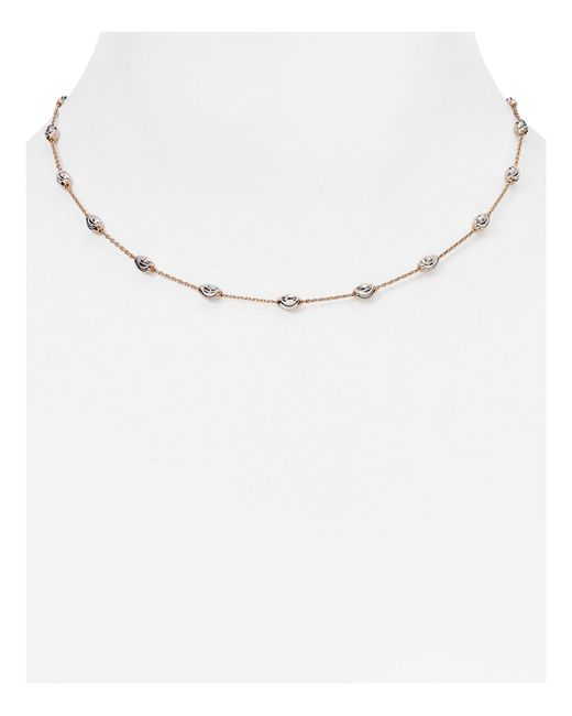 Officina Bernardi | Pink Beaded Necklace, 16"