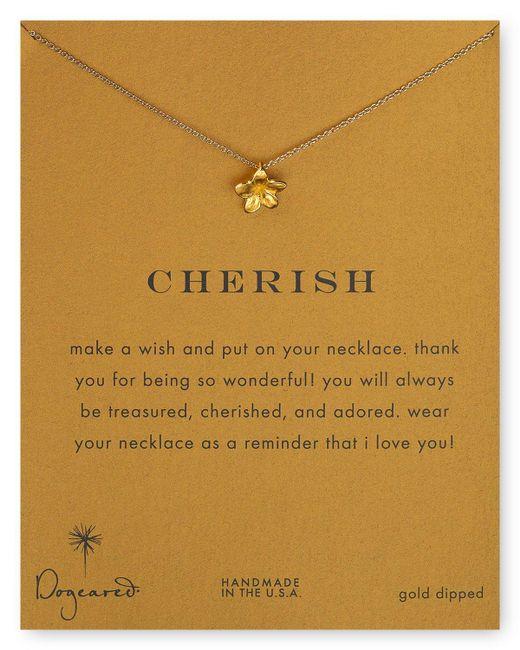 "Dogeared   Metallic Plumeria Flower Pendant Necklace, 18""   Lyst"