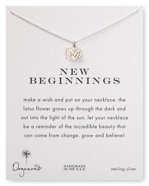 "Dogeared | Metallic New Beginnings Pendant Necklace, 18"" | Lyst"