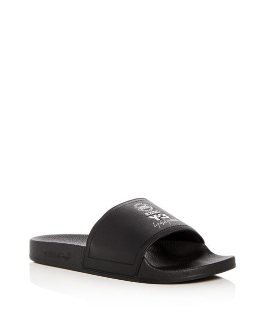 Y-3 - Black Men's Adilette Slide Sandals for Men - Lyst