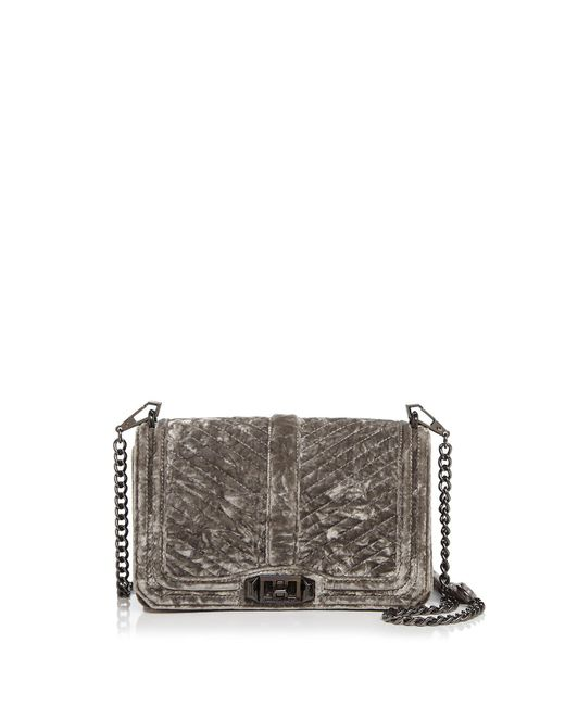 Rebecca Minkoff | Multicolor Love Chevron Quilted Crushed Velvet Crossbody | Lyst
