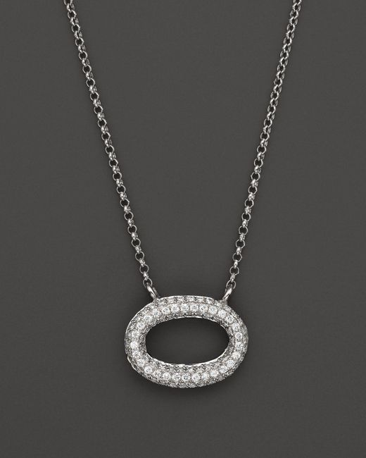 KC Designs | Pave Diamond Oval Pendant In 14k White Gold, .25 Ct. T.w. - 100% Exclusive | Lyst