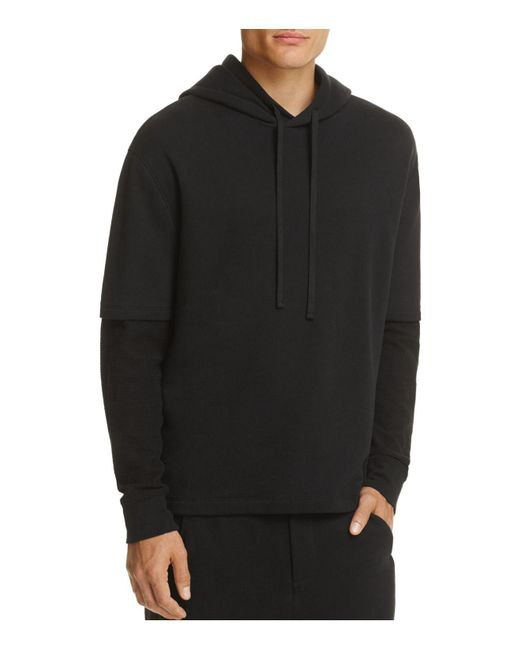 Vince | Black Double-layer Hoodie for Men | Lyst