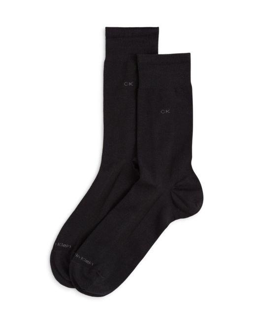 Calvin Klein | Black Tech Cool Flat Knit Dress Socks for Men | Lyst