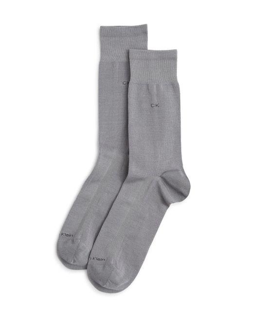 Calvin Klein | Gray Tech Cool Flat Knit Dress Socks for Men | Lyst