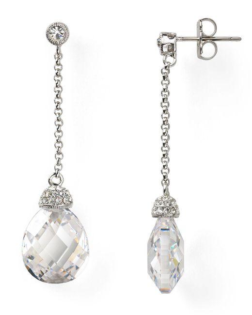 Nadri | Metallic Linear Drop Earrings | Lyst