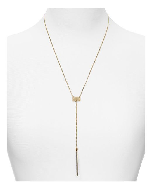 "Phyllis + Rosie - Yellow Phyllis + Rosie Y Bar Necklace, 20"" - Lyst"
