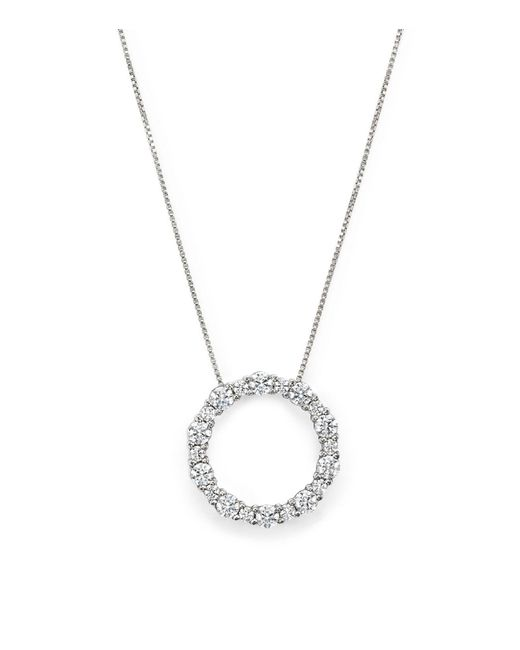 Lyst bloomingdales diamond circle pendant necklace in 14k white bloomingdales diamond circle pendant necklace in 14k white gold 130 ct tw aloadofball Choice Image