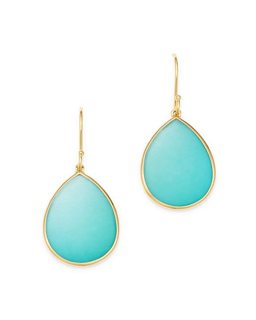Ippolita - Blue 18k Yellow Gold Rock Candy Turquoise Drop Earrings - Lyst