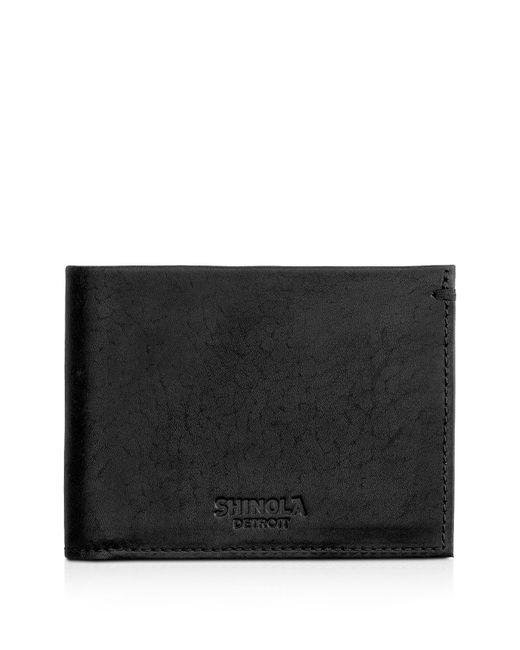 Shinola - Black Slim Bifold Wallet for Men - Lyst