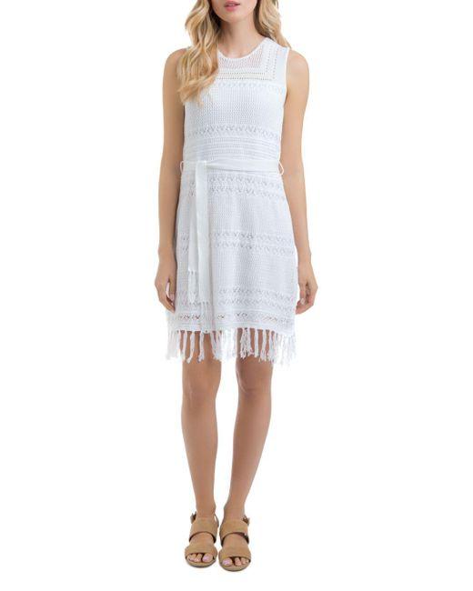Lyssé - White Sabra Lace-knit Dress - Lyst