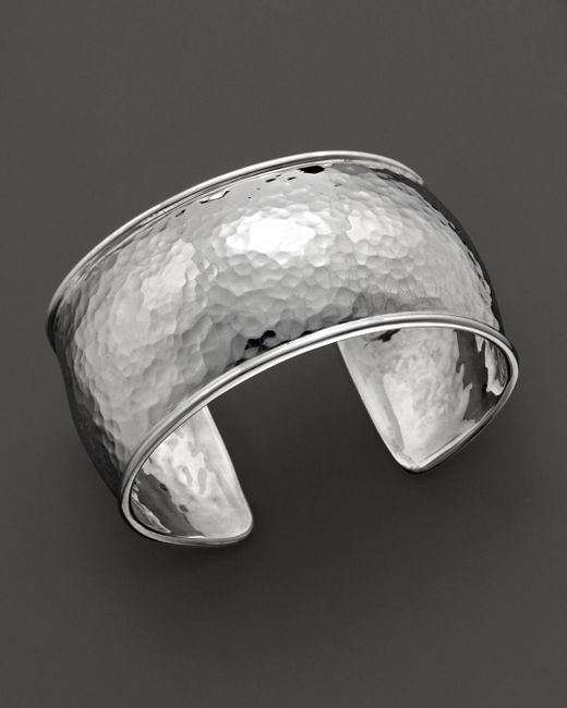 Ippolita - Multicolor Sterling Silver Hammered Flat Cuff - Lyst