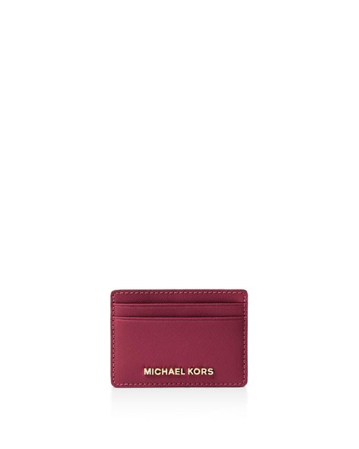 MICHAEL Michael Kors   Pink Leather Card Case   Lyst