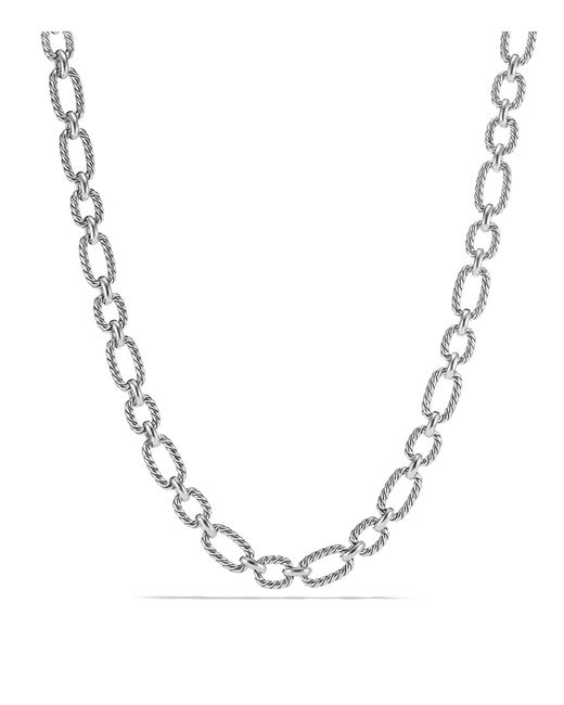 David Yurman   Metallic Chain Cushion Link Necklace With Blue Sapphire In Sterling Silver   Lyst