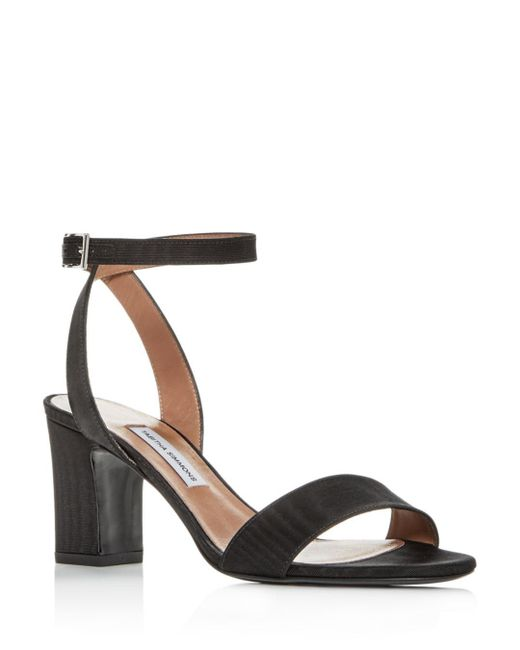 e3db7dac9b1 Tabitha Simmons - Black Women s Leticia Ankle Strap Block-heel Sandals -  Lyst ...