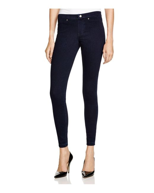 Hue | Brown Super Smooth Denim Leggings | Lyst