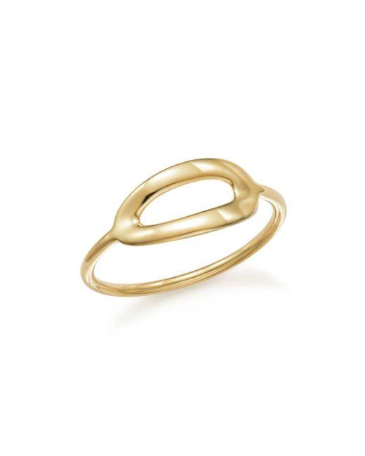 Ippolita - Metallic 18k Yellow Gold Cherish Single Large Link Midi Ring - Lyst