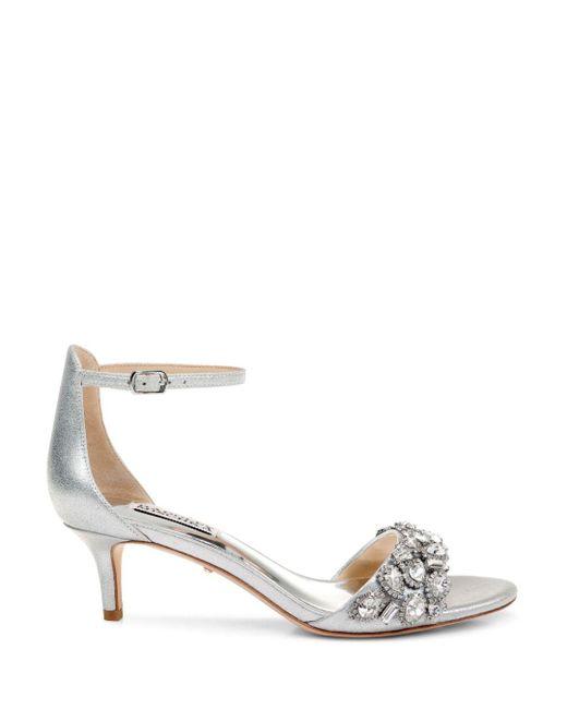 48137faaa ... Badgley Mischka - Metallic Women s Lara Ii Embellished High-heel Sandals  ...