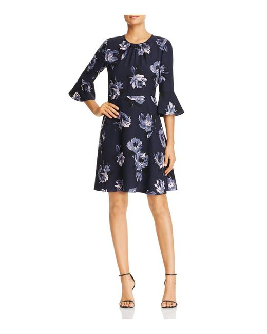 Kate Spade   Blue Night Rose Bell Sleeve Dress   Lyst